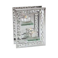 Diamond Double Tealight Holder 14cm