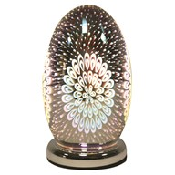 3D Dome Touch Lamp Peacock 25cm
