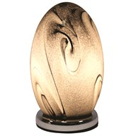 Dome Touch Lamp Grey Swirl 25cm