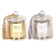 Electroplated Wax Filled Scented Jar 10cm 2 Assorted
