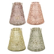 Embossed Lantern 23cm 4 Assorted