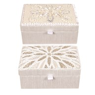 Embroidered Jewelry Box 15cm 2 Assorted