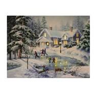 Fibre Optic Canvas Christmas Forest 30x40cm