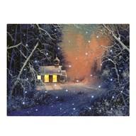 Fibre Optic Canvas Winter Scene 30x40cm