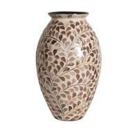 Floral Capiz Vase 36cm