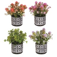 Floral Decorative Pot 24cm 4 Assorted