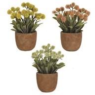 Floral Decorative Pot 4 Assorted 21cm