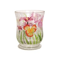 Floral Hurricane Tea-light Holder 11cm