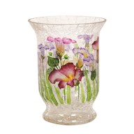 Floral Hurricane Tea-light Holder 15cm