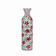 Floral Mosaic Bottle Vase 38cm