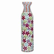 Floral Mosaic Bottle Vase 46cm