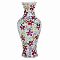 Floral Mosaic Temple Vase 35cm