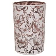 Floral and Butterflies Tealight Holder 18cm