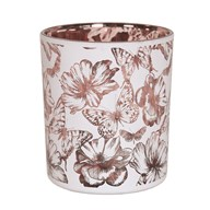 Floral and Butterflies Tealight Holder 10cm