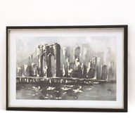 Framed Print Brooklyn 60x90cm