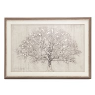 Framed Print Silver Tree 60x90cm