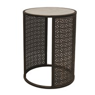 Fretwork Round Table 41x56cm