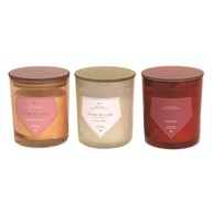 Glitter Jar Candle 10cm 3 Assorted