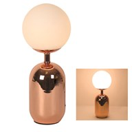 Globe Table Lamp in Rose Gold 45cm