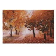 Glass Art 80x120cm Autumn Stroll