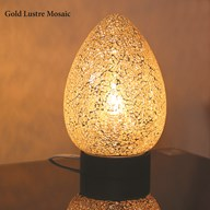 Gold Lustre Mosaic Egg Lamp 25cm