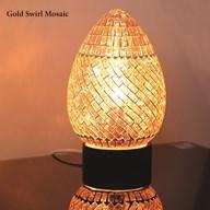 Gold Swirl Mosaic Egg Lamp 25cm