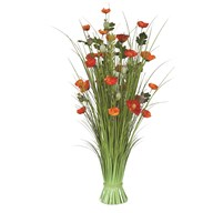 Grass Bundle Poppy 100cm