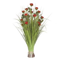 Grass Floral Bundle Rose 100cm