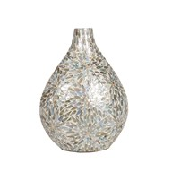 Green Floral Capiz Vase 42cm