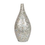 Green Floral Capiz Vase 62cm