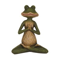 Green Yoga Frog Figurine 21.5cm
