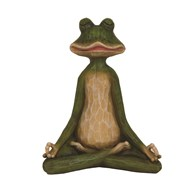 Green Yoga Frog Figurine 22cm