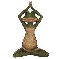 Green Yoga Frog Figurine 25cm