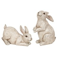 Grey Rabbits 23/14cm 2 Assorted