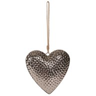 Hammered Effect Hanging Heart 28.5cm