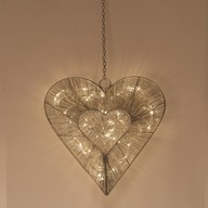 Hanging LED Heart 37cm