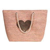 Heart Beach Bag Pink 38x40cm
