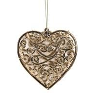 Heart Tree 10cm Gold