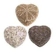 Heart Trinket Box 10cm 3 Assorted