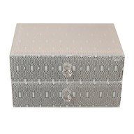 Hex Design Jewellery Box 11cm