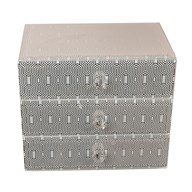 Hex Design Jewellery Box 15cm