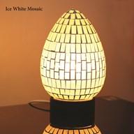 Ice White Mosaic Egg Lamp 25cm