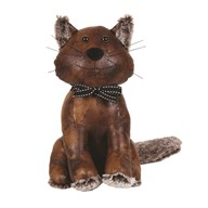 Leather Look Cat Doorstop 30cm