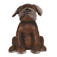 Leather Look Dog Doorstop 31cm