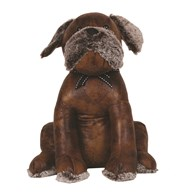 Leather Look Dog Doorstop 31cm