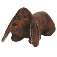 Leather Look Dog Doorstop 48cm