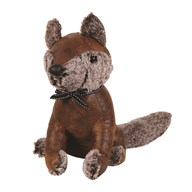 Leather Look Fox Doorstop 30cm