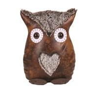 Leather Look Owl Doorstop 26cm
