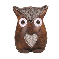 Leather Look Owl Doorstop 26cm