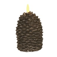 LED Brown Pinecone Candle 12.5cm